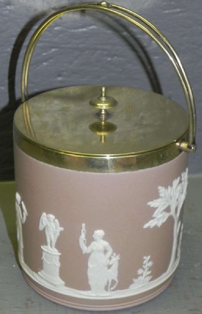 Lilac Wedgwood Jasperware biscuit jar