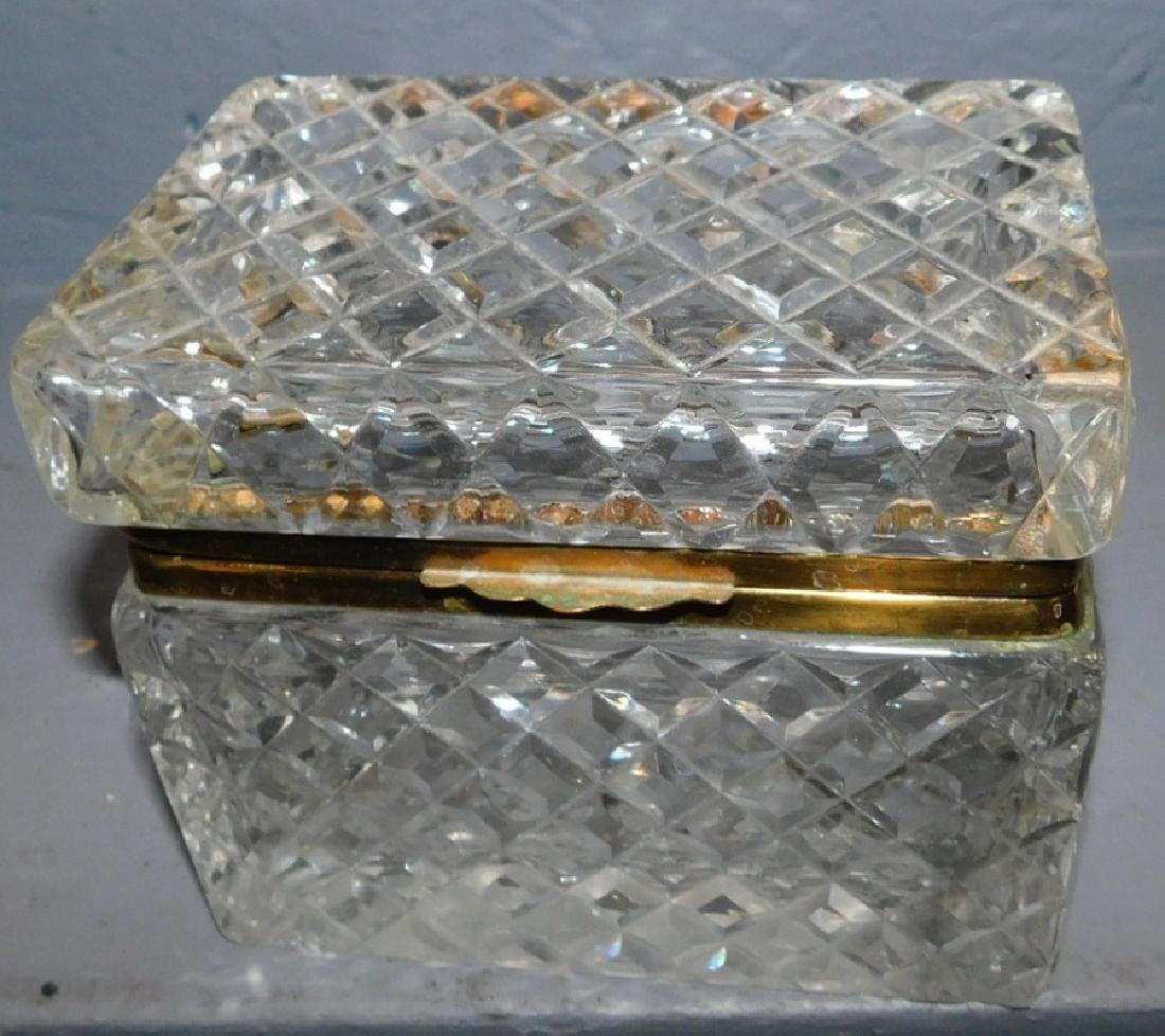 Heavy crystal dresser box.