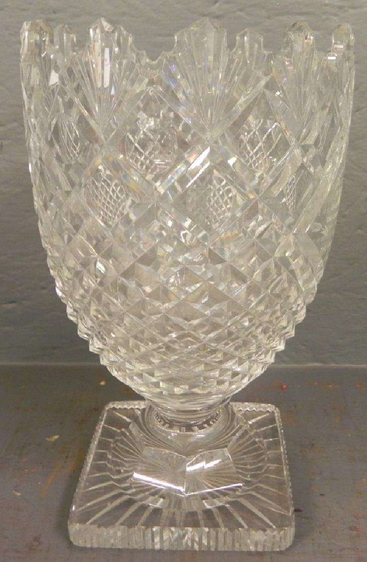 Anglo Irish cut glass trophy compote