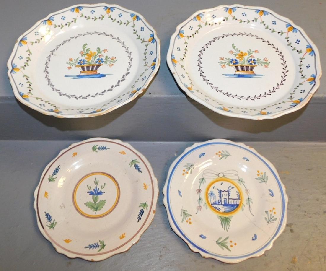 4 18th C Delft plates.