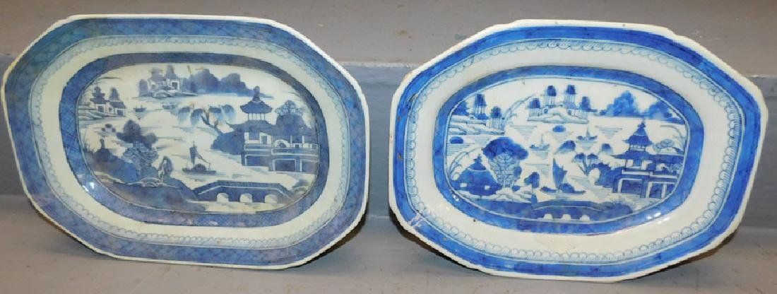 2 19th C Canton platters
