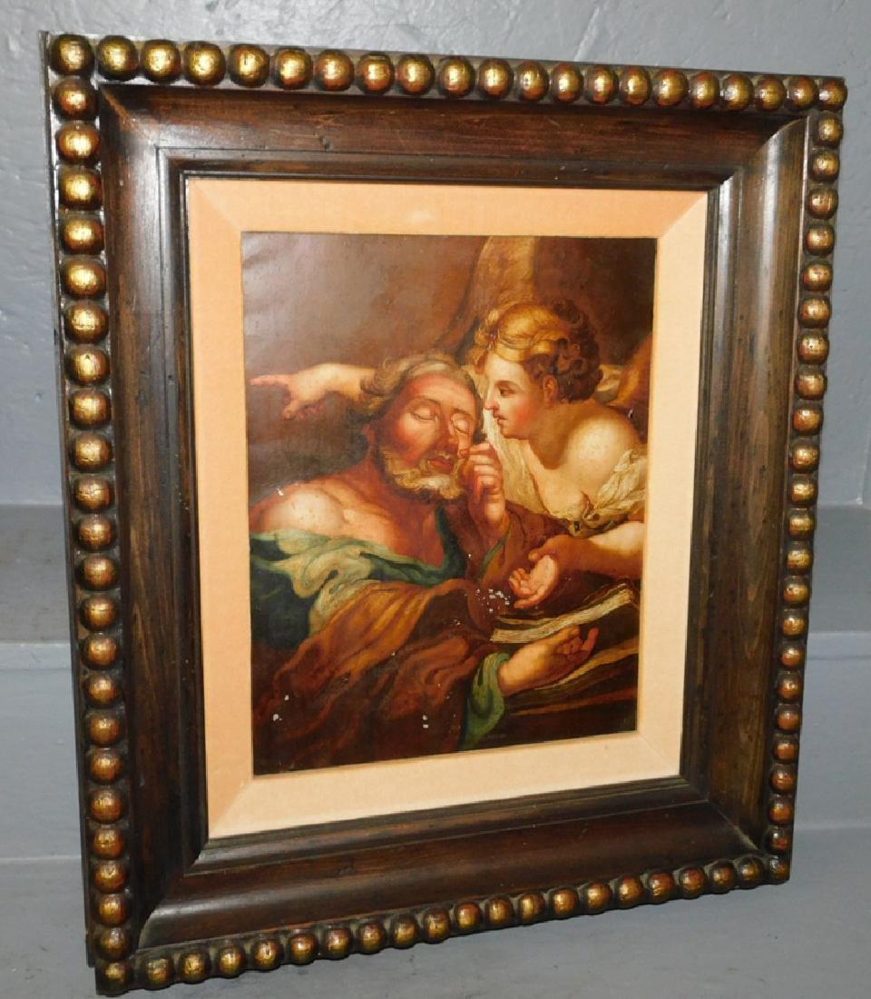Old Master style oil on tin.