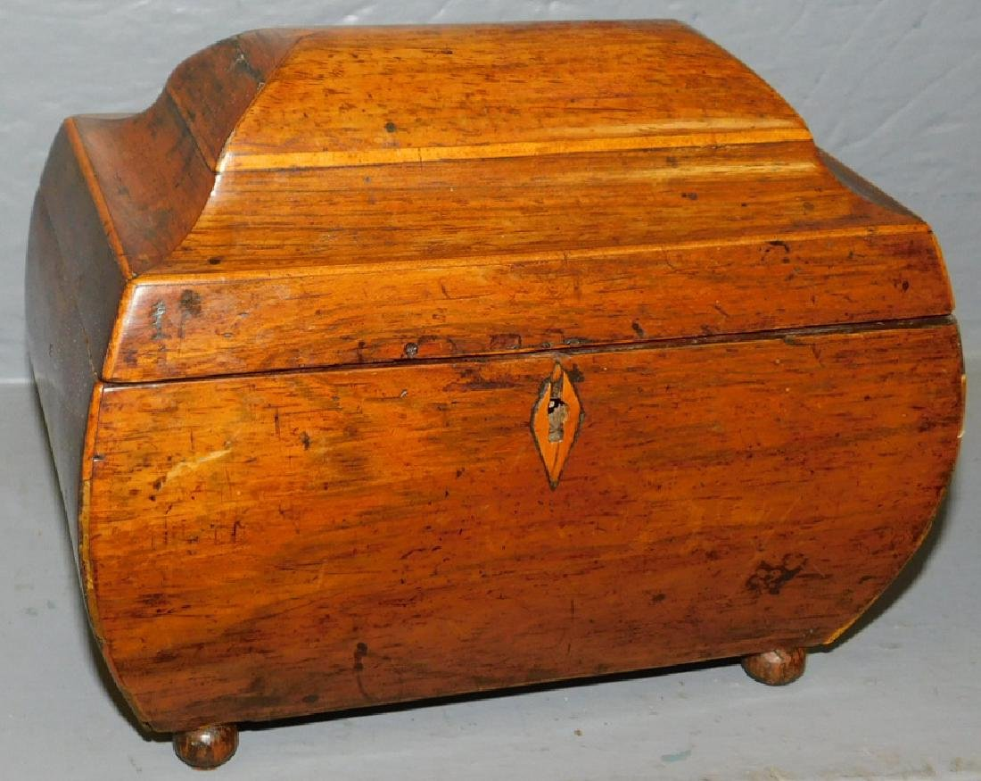 Bombay style rosewood tea caddy.