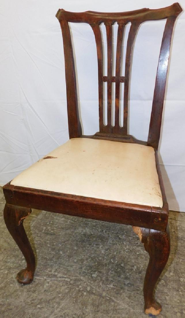 Antique 18th C walnut Queen Anne side chair