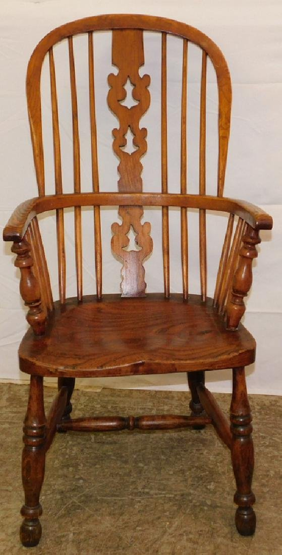 High back English Windsor arm chair