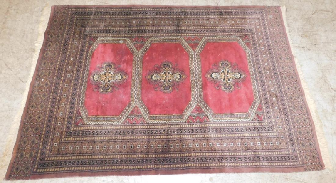 "4'2"" x 6' handmade Bokhara rug"