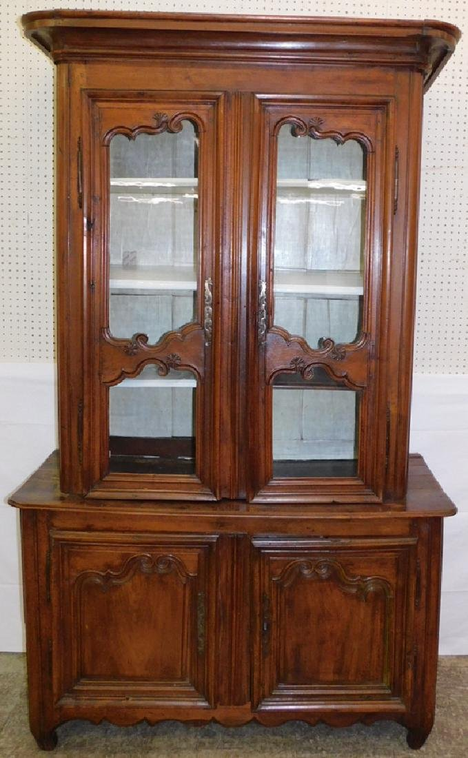 18th C French bookcase top bureau