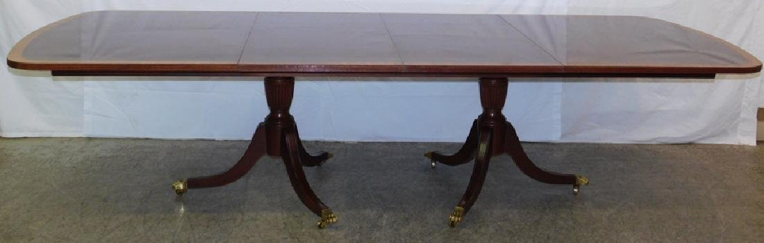 Banded top mahogany dining table