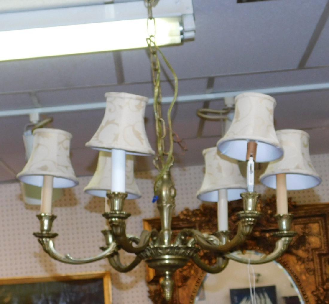 Bronze 6 light chandelier