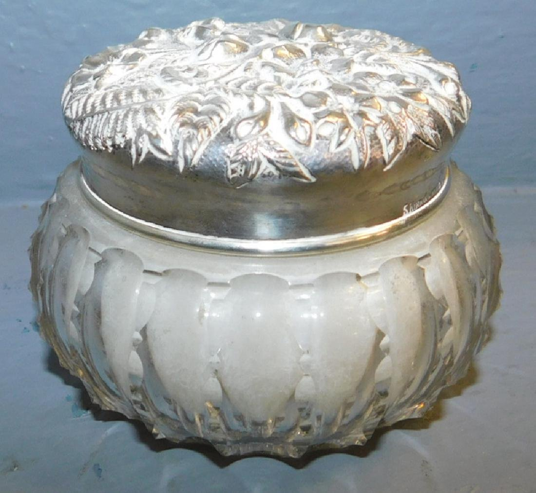 Hawkes Cut glass and Kirk and Son powder jar