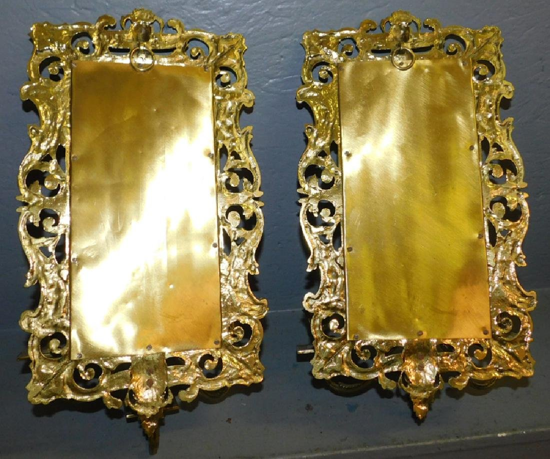 Pair of jellif head mirrored wall sconces. - 4