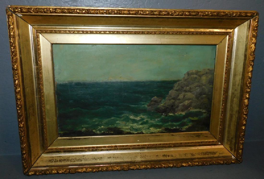 19th C Gilt framed OOC ocean scene.