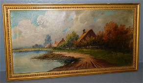 OOC of lake and cottage scene