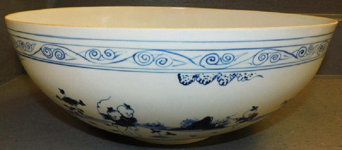 Republic Period eggshell marked punch bowl