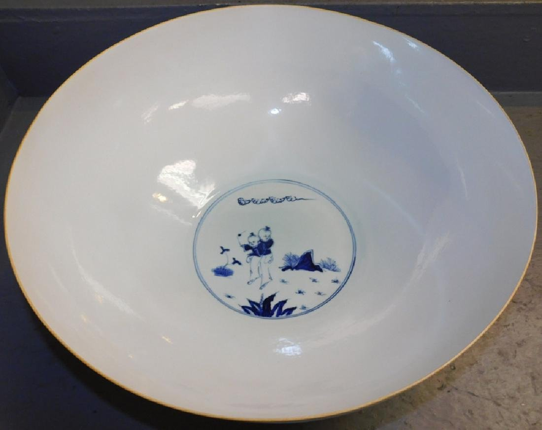 Republic Period eggshell marked punch bowl - 2