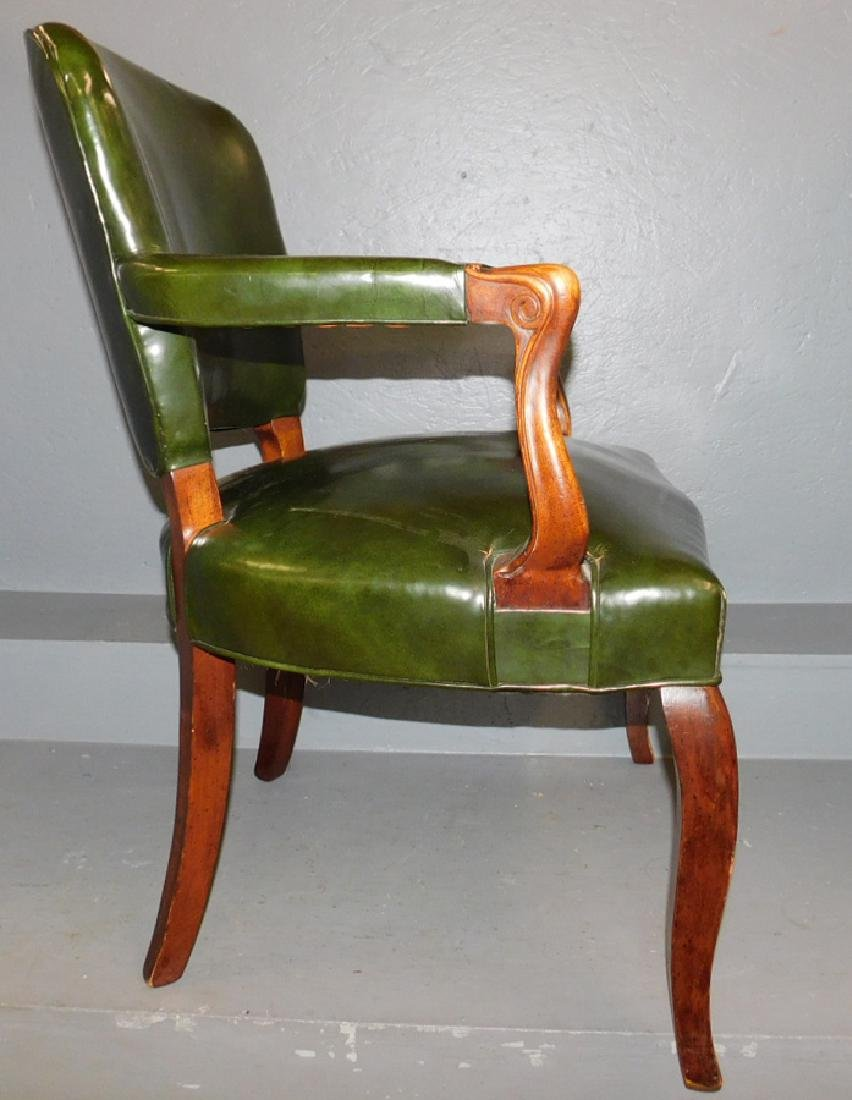 Leather library chair - 2