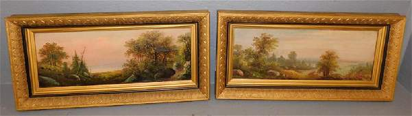 19th C OOC forest and lake scenes