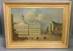 Signed G Schroter gilt framed OOC