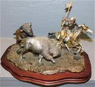 """Pardell """"The Tables Turned"""" signed sculpture"""