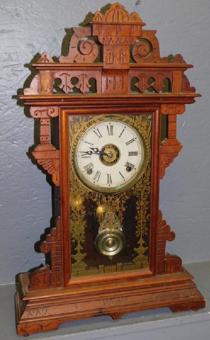 American walnut Victorian shelf clock.