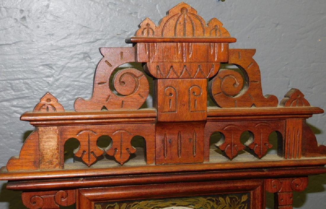 American walnut Victorian shelf clock. - 2