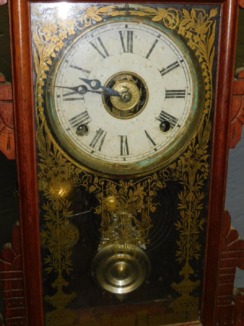 American walnut Victorian shelf clock. - 3