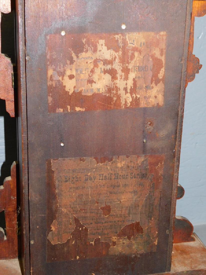 American walnut Victorian shelf clock. - 4