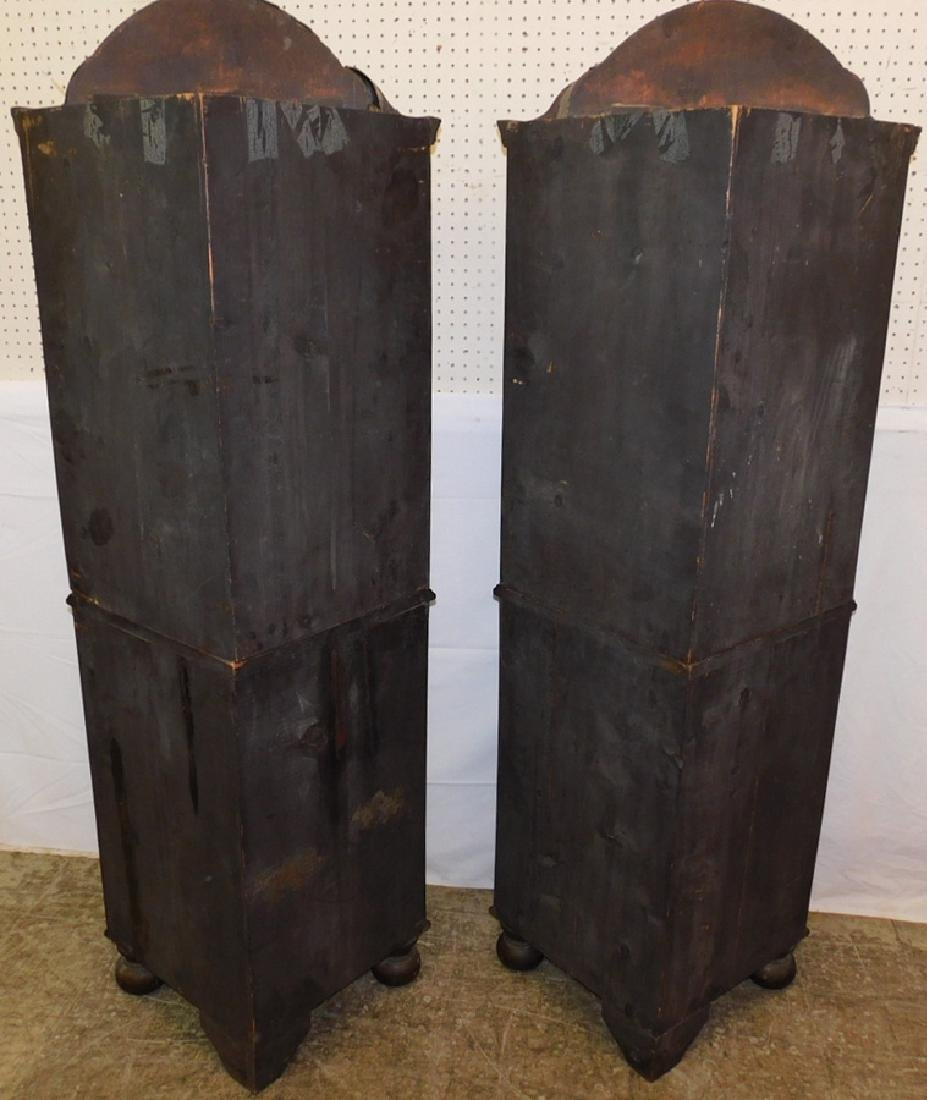 Pair of 19th C Queen Anne corner cupboards. - 2