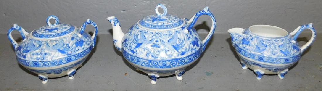 3 piece Oriental character marked tea set