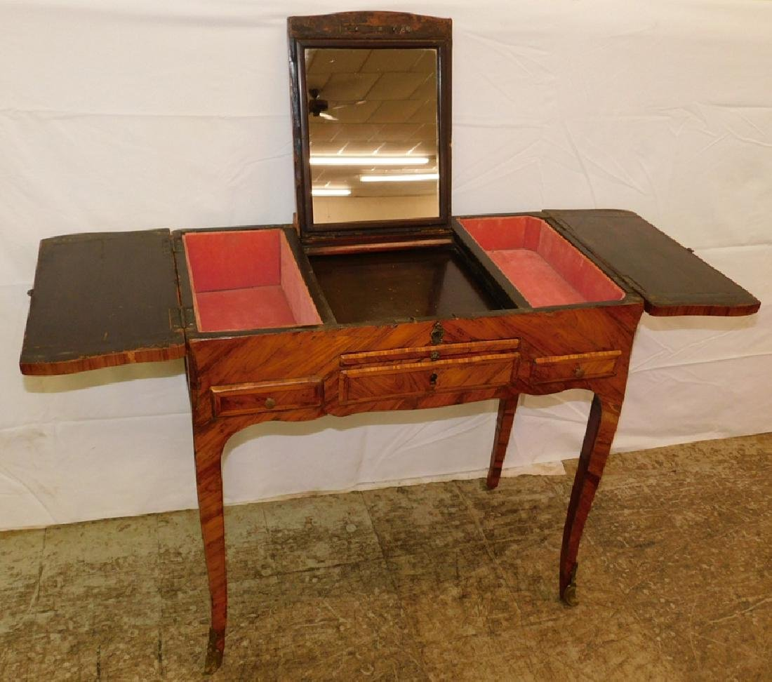 Marquetry inlaid French dressing table. - 3