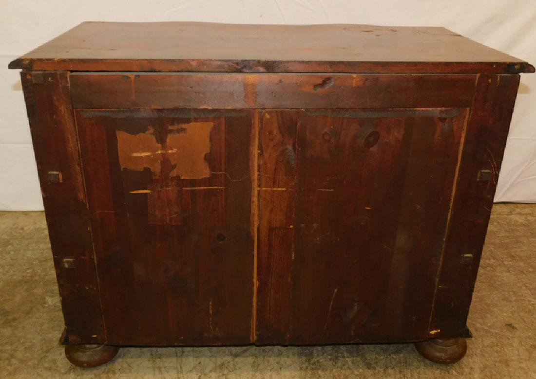 Marquetry inlaid 3 drawer walnut commode - 3