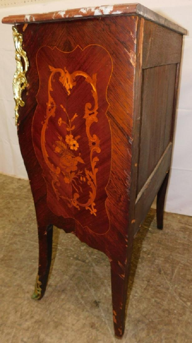 French marble top 3 drawer commode. - 4