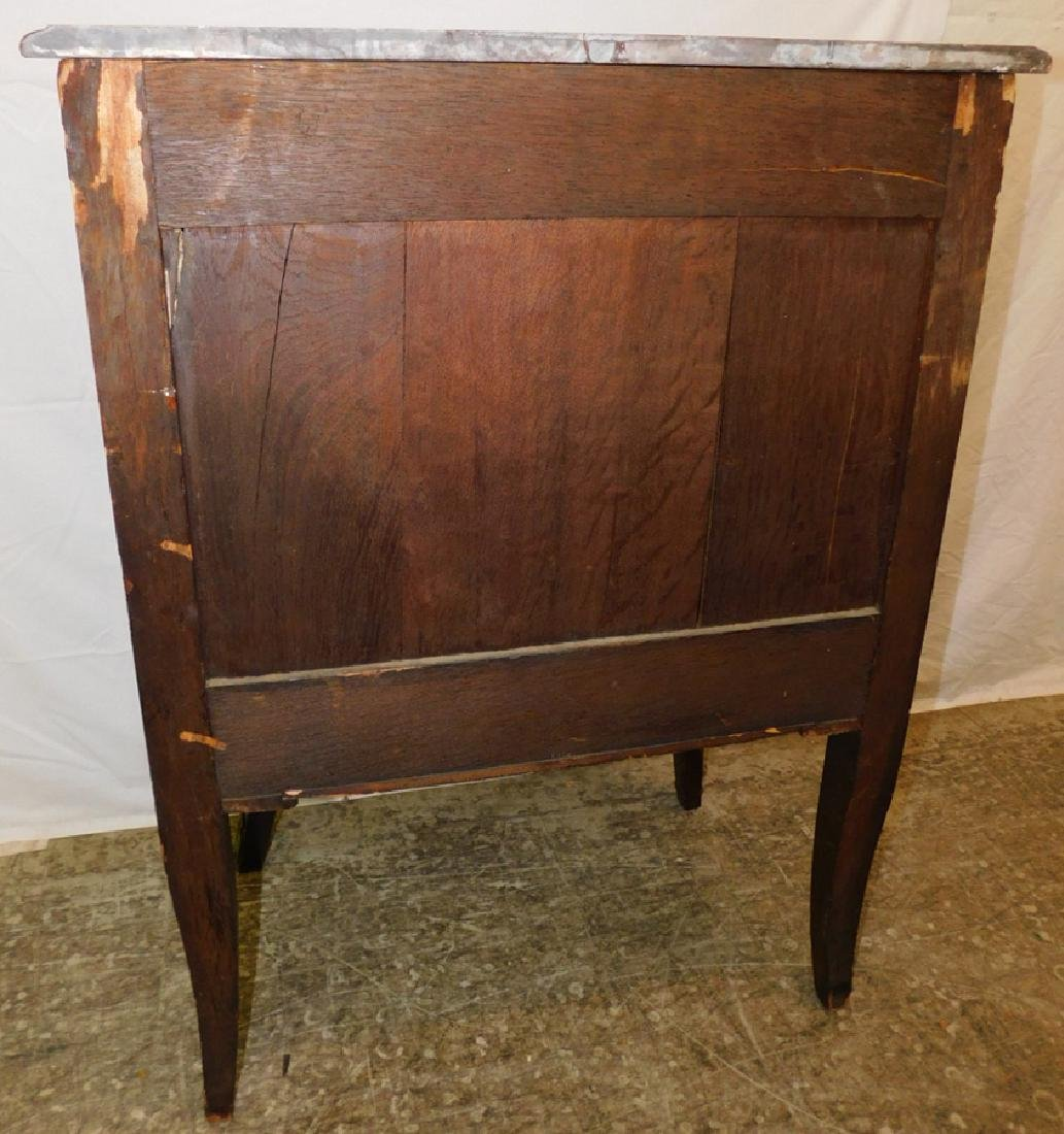 French marble top 3 drawer commode. - 5