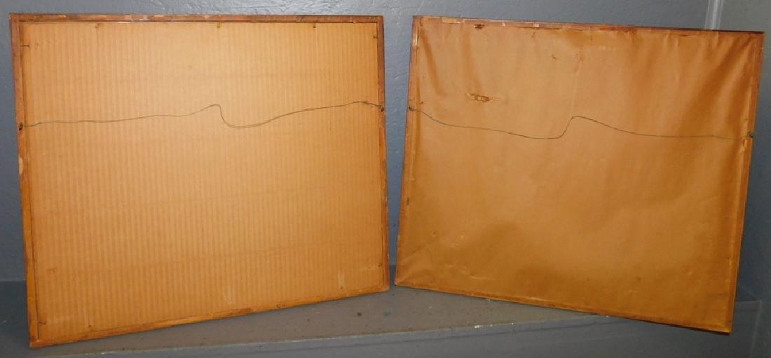2 framed hunt prints with bamboo frames. - 4
