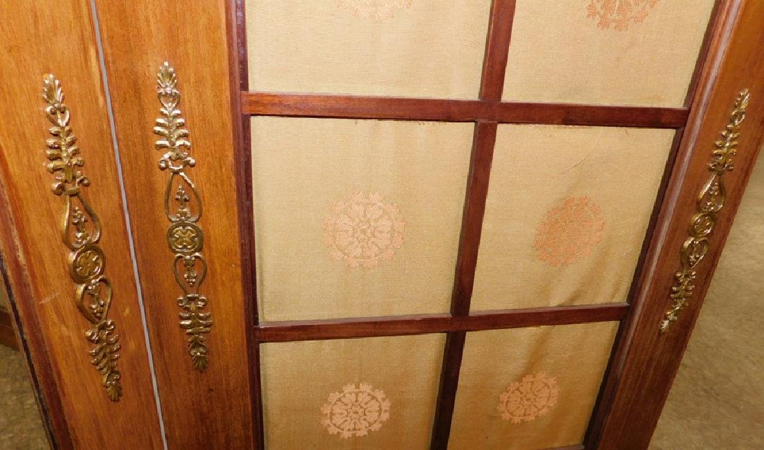 French 3 panel dressing screen. - 5