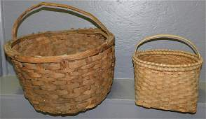 Early cotton basket and split oak basket