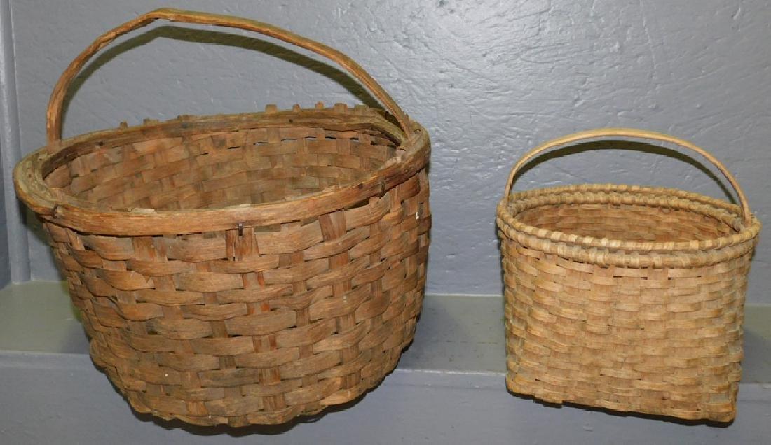 Early cotton basket and split oak basket