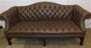 Mocha Leather Chesterfield