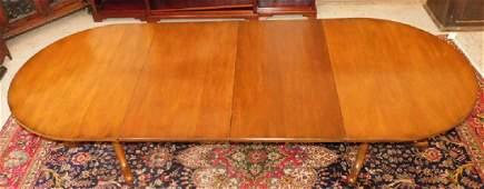 CW Kittinger mahogany dining room table.