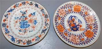 2 early 19th C Chinese Imari plates