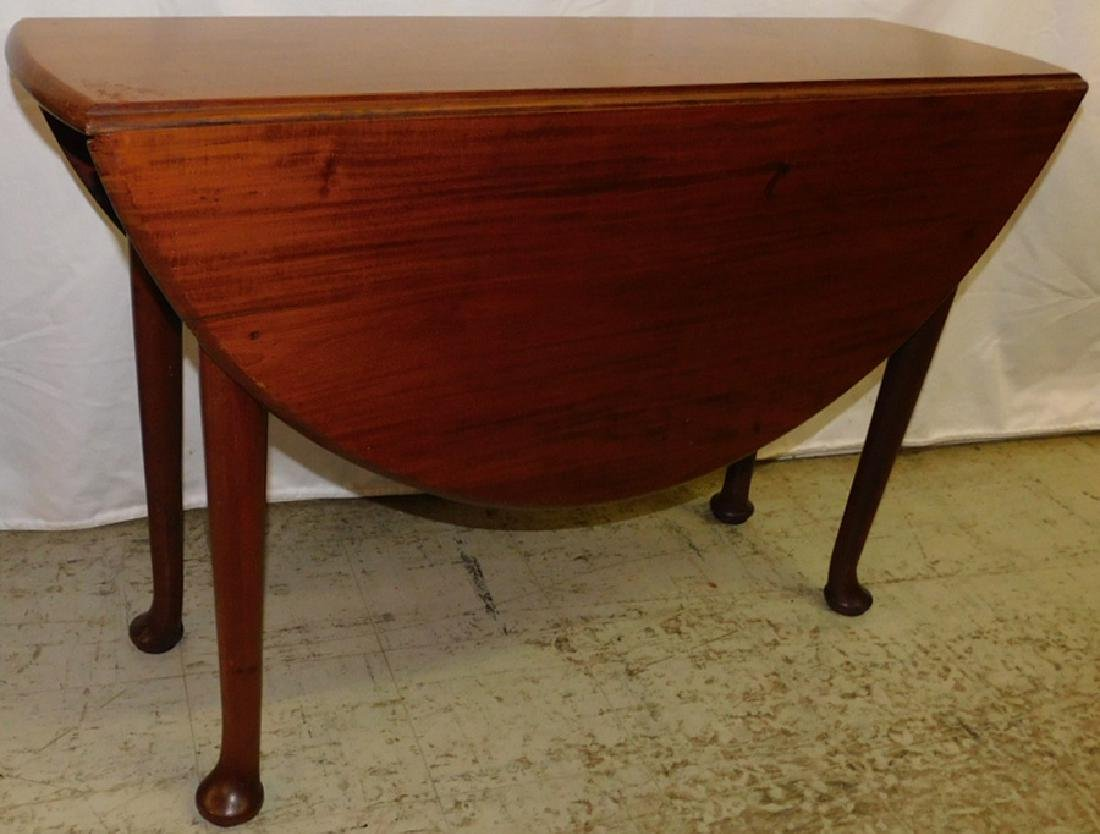 19th C Mahog Queen Anne Drop Leaf Table