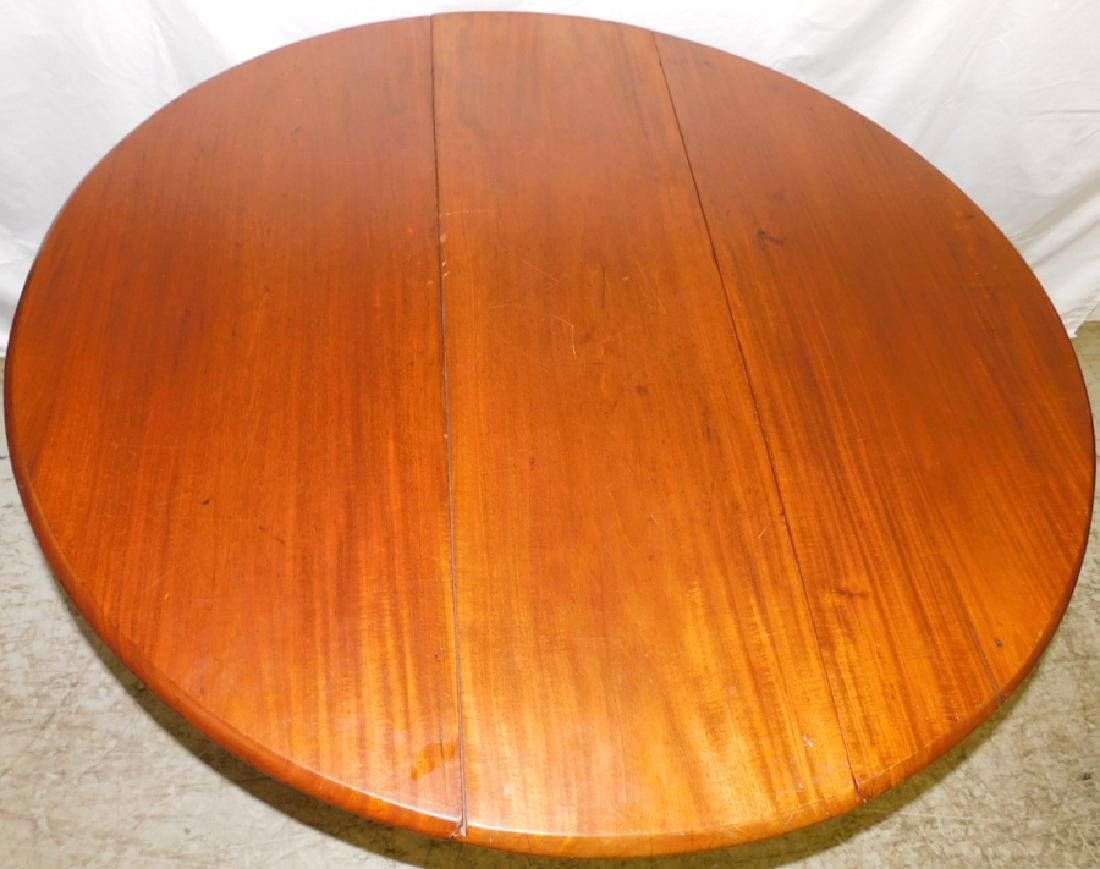 19th C Mahog Queen Anne Drop Leaf Table - 3