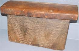 Wooden African Bakuba Tribe Ceremonial Box