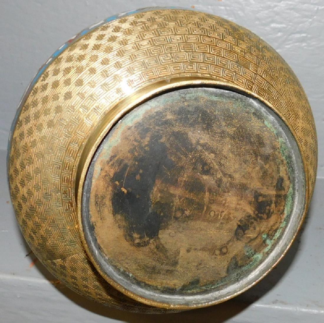 19th C Polished Champleve Urn - 3