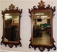Pr walnut Prince Of Wales Crest Wall Mirrors