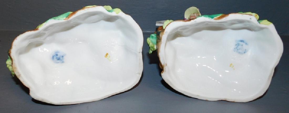 Pair German Porcelain Spill Vases - 3