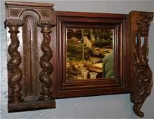 19th C Wal Carved Barley Twist Italian Mirror