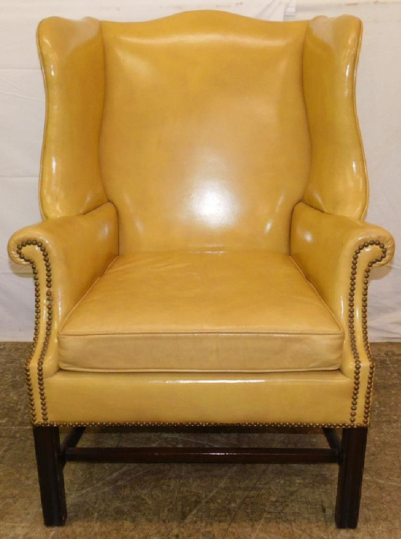 Schulz U0026 Behrle Leather Chipp Wingback Chair