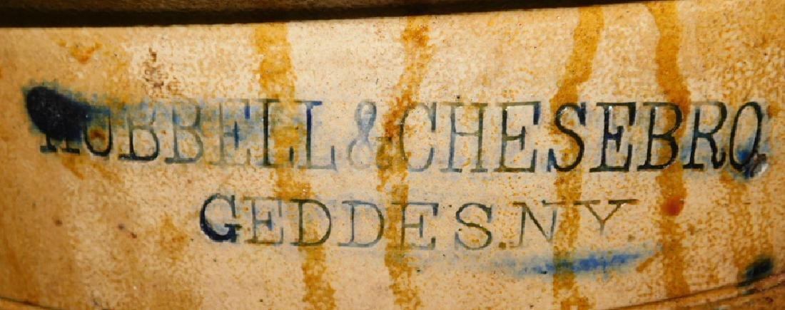 Early Blue Decorated Salt Glaze 5 Gallon Crock - 2