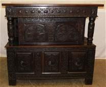 18th C English Oak Court Cupboard